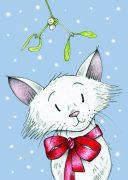 Christmas Mistletoe Mog - Snowy